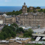 view over Edinburgh from castle weekend