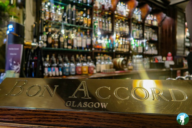 bon accord best whisky bars glasgow