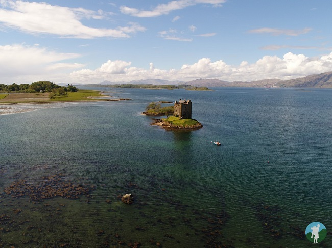 aerial photography scotland castle stalker