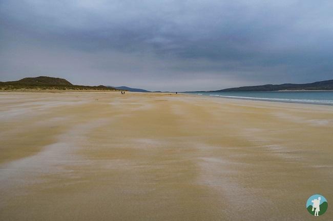 luskentyre beach isle of harris sand