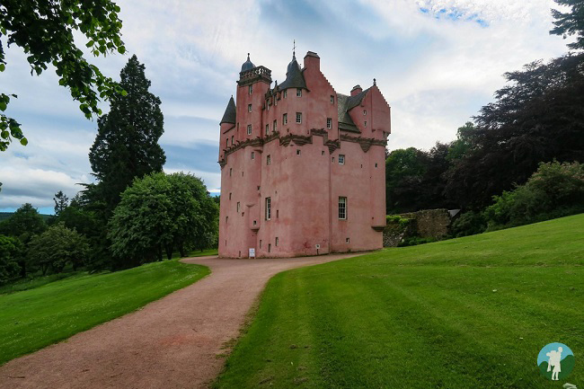 pink castle near aberdeen