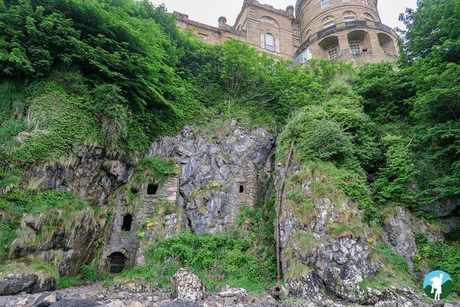 culzean castle coastal cliff