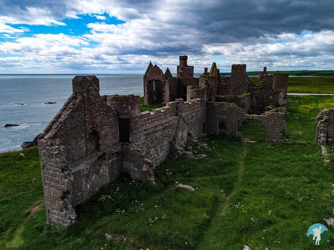 new slains castle drone