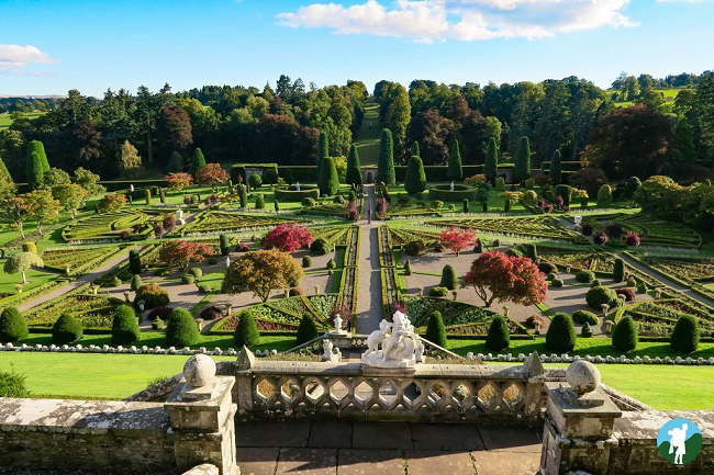 drummond gardens outlander filming locations