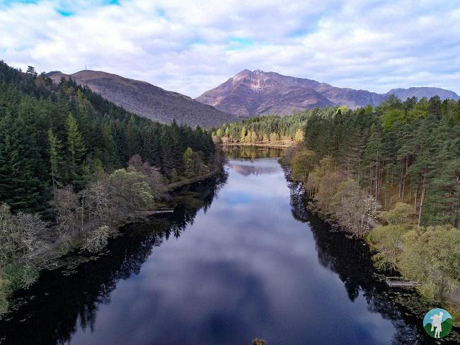 glencoe lochan drone photography scotland