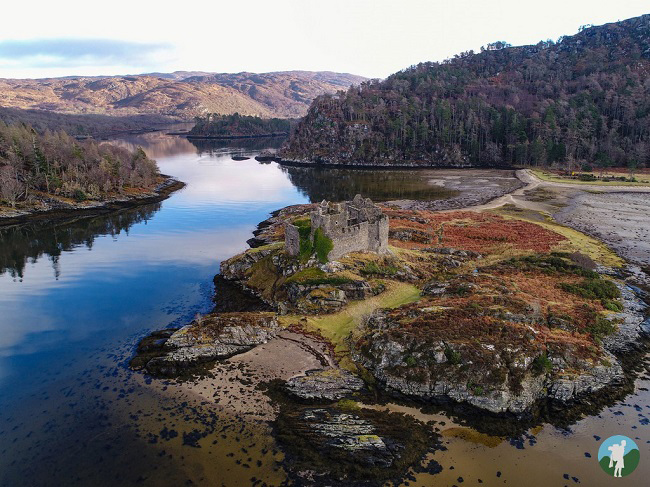 castle tioram aerial photography drone