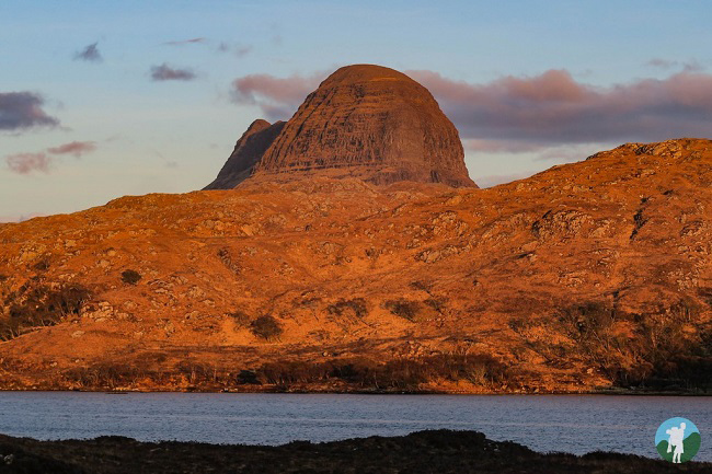 sunset at suilven lochinver