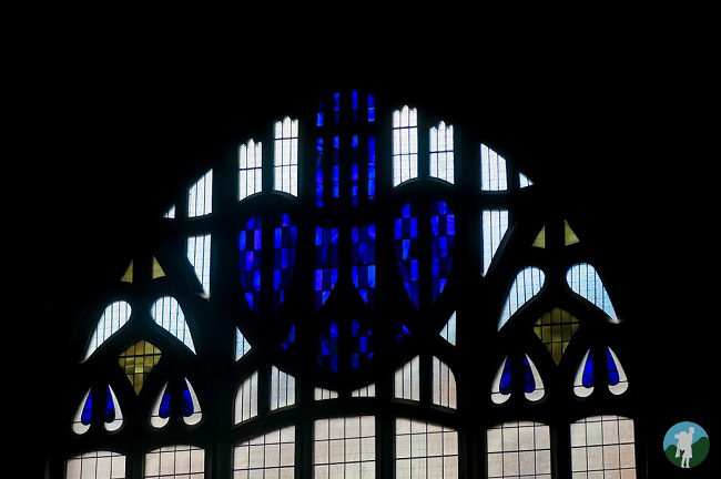 mackintosh church flower stained glass