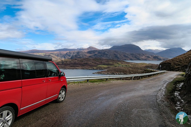 shieldaig vw campervan north coast 500 campsites