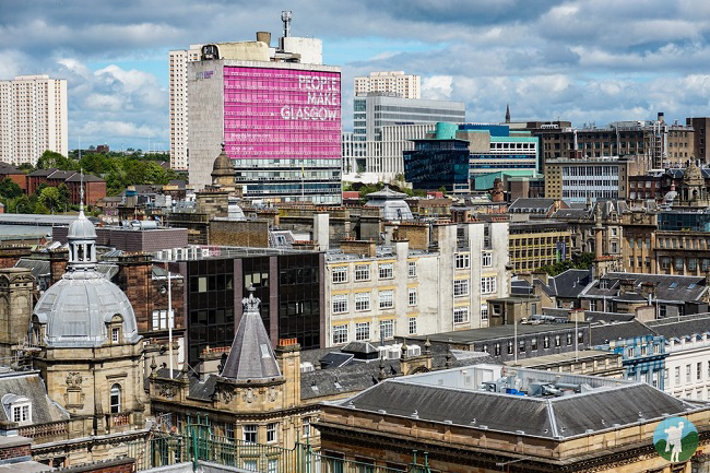 glasgow scotland cityscape view