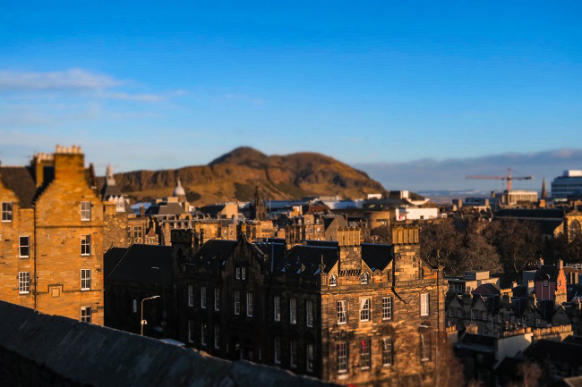 edinburgh castle best view