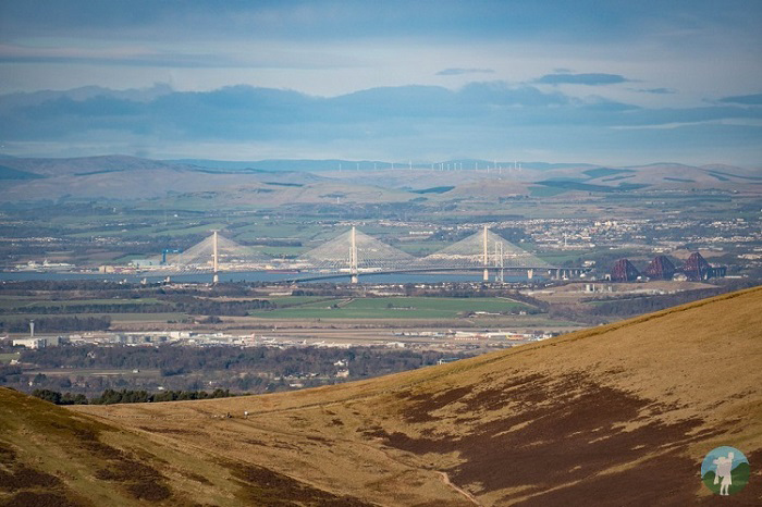 winter walking scotland pentlands forth bridge