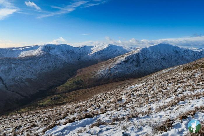 luss hills winter walking scotland