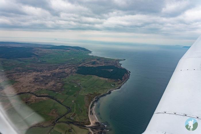 coastline from the air scotland west coast