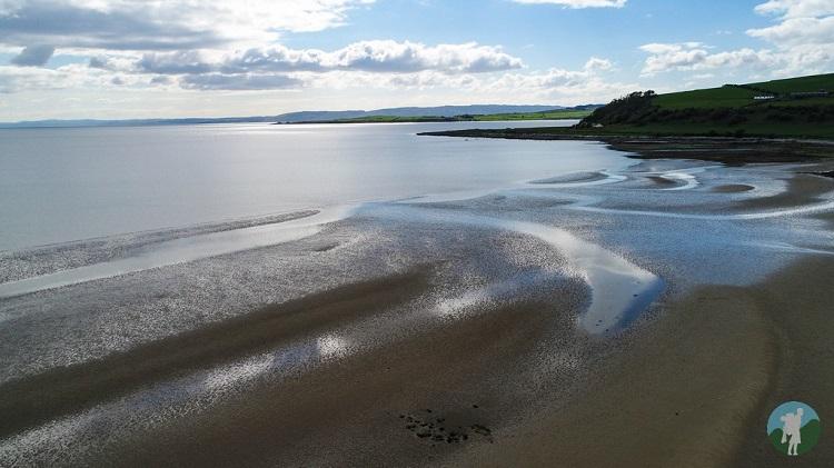 Ettrick Bay drone Bute