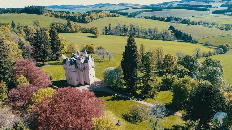 drone craigievar castle