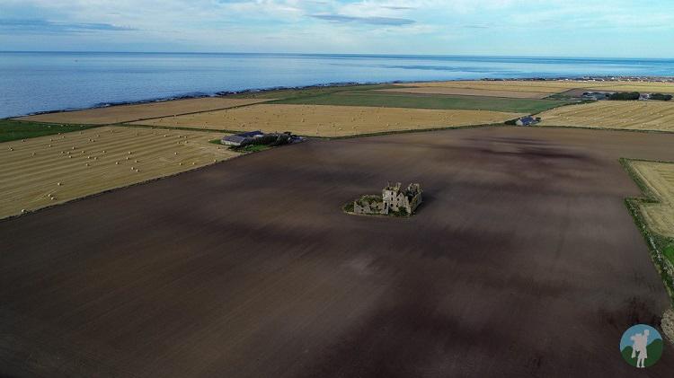 drone pittulie castle fraserburgh