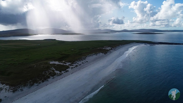 drone berneray beach