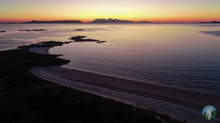 sunset camusdarach drone