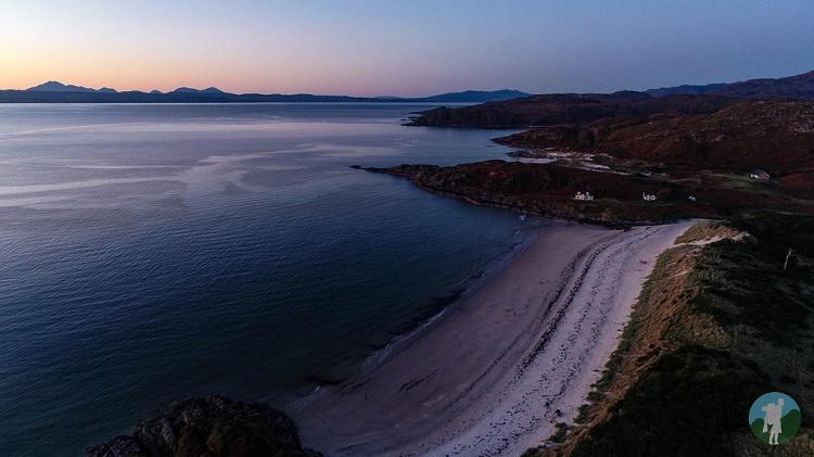 camusdarach beach road to the isles