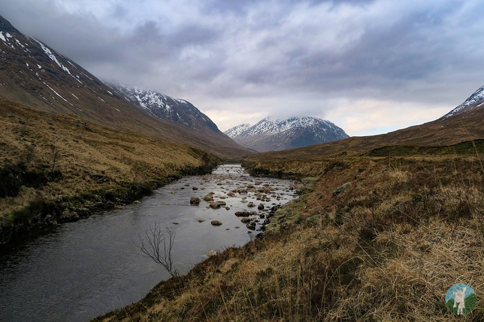 winter scottish highlands glen etive