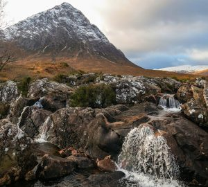 winter buachaille etive mor glen coe scotland