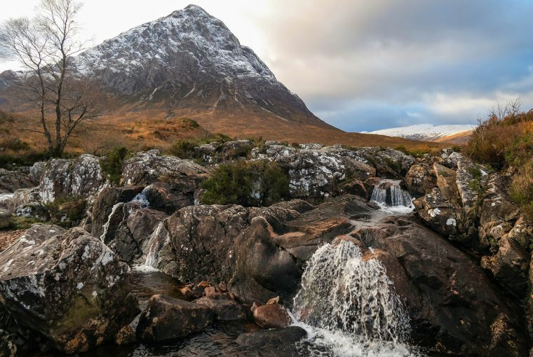 winter buachaille etive mor glen coe scotland