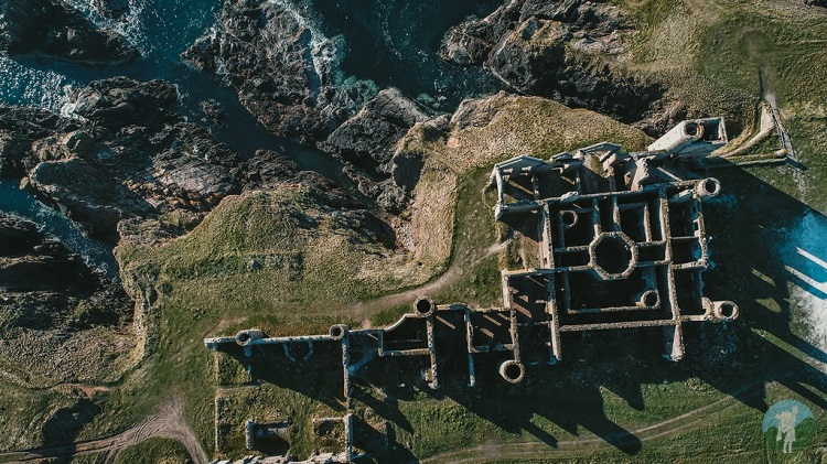 New Slains Castle from above