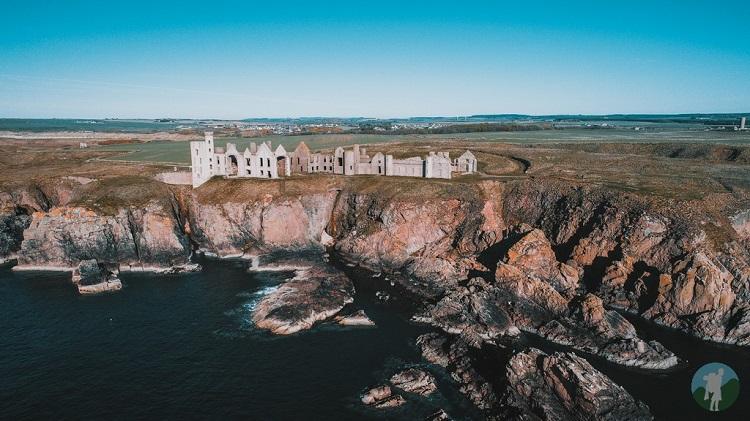 new slains castle drone