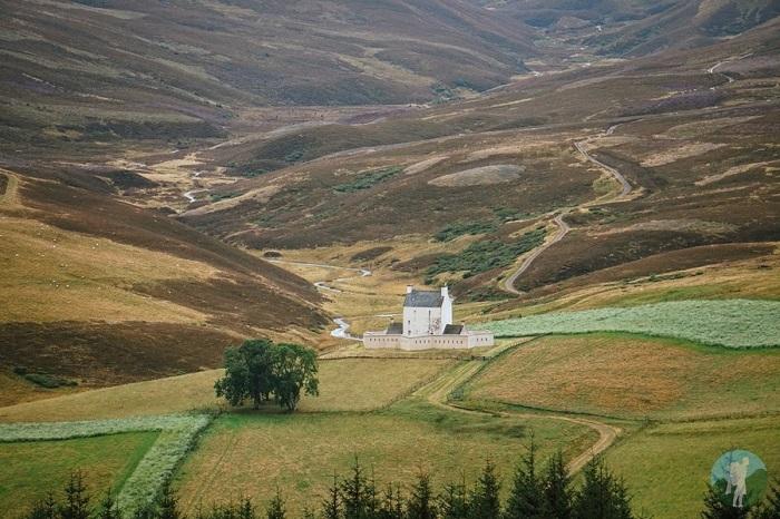 corgarff castle heather mountains