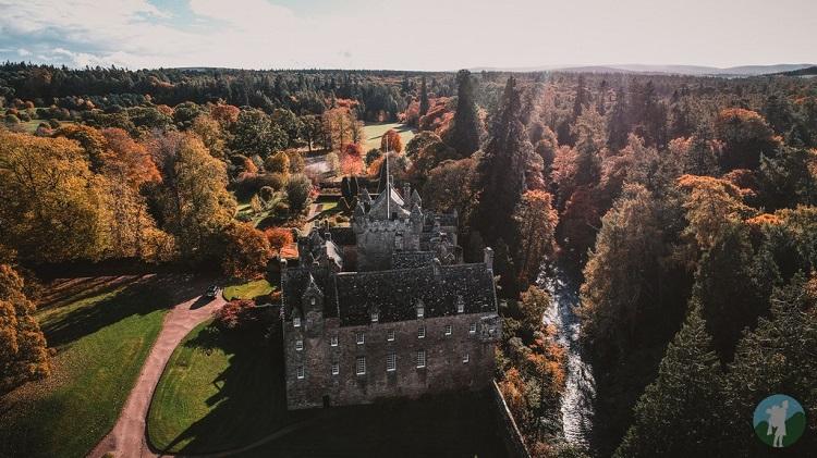 cawdor castle drone