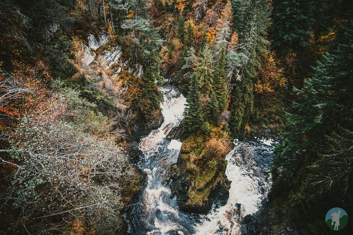 plodda falls glen affric scotland