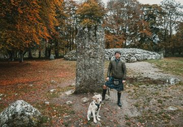 travels with a kilt dog